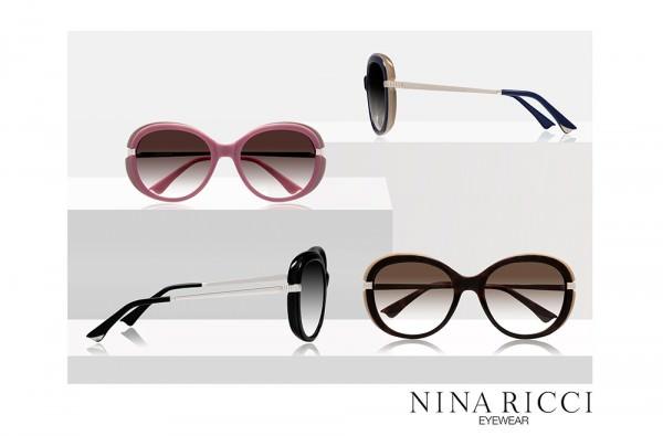 Lumiprod, photographie publicitaire avec mise en scène de quatre paires de lunettes de luxe.