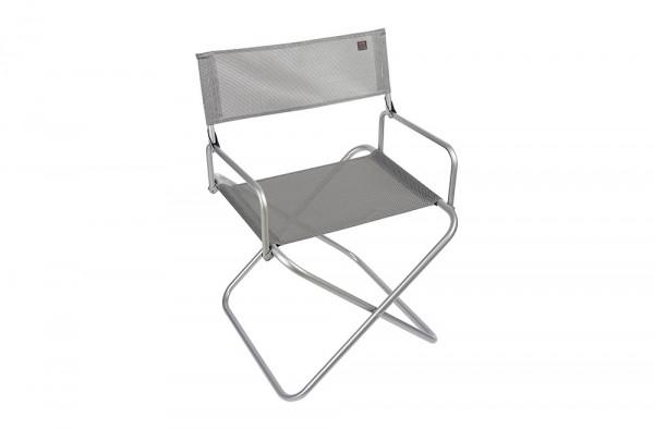 Mobilier outdoor. Photographie packshot d'un fauteuil pliant extra-large.