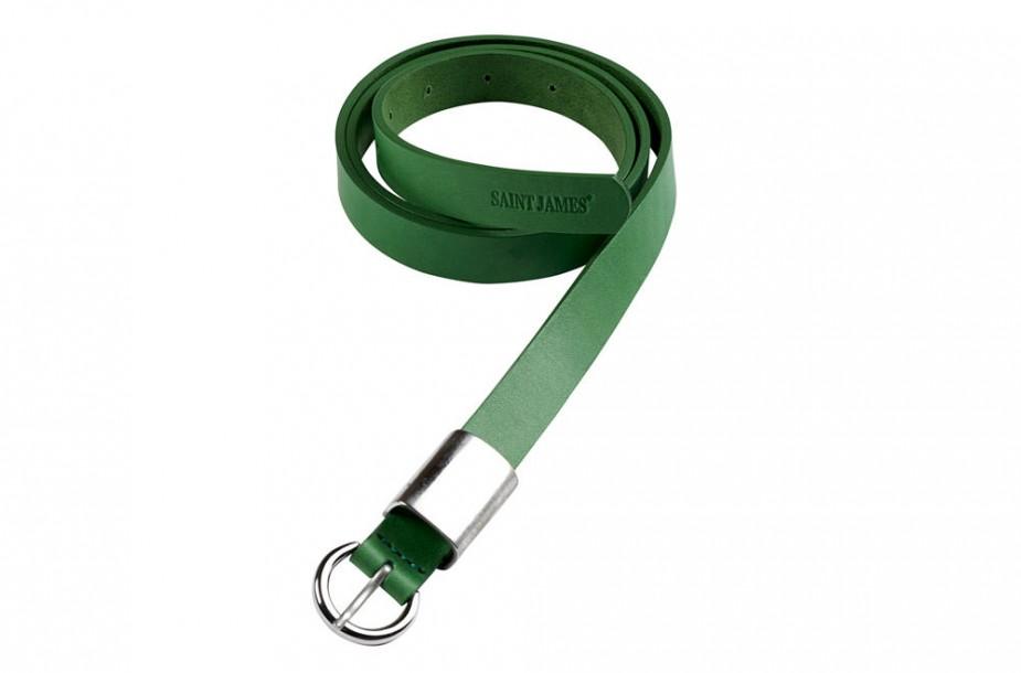 Photographie packshot d'une ceinture de la collection d'accessoires Saint James.