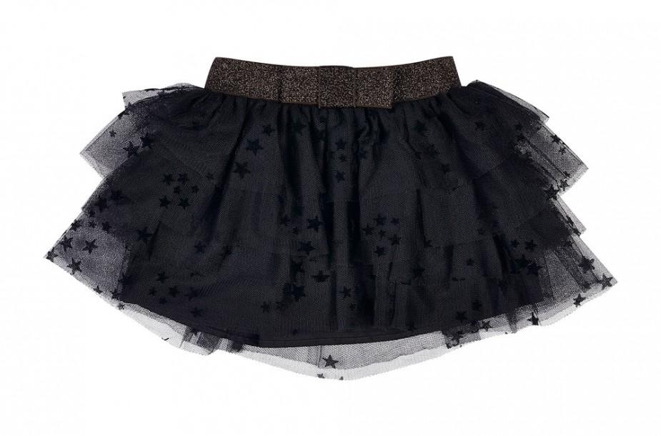 Photographie à plat d'une jupe en tulle pour enfant.