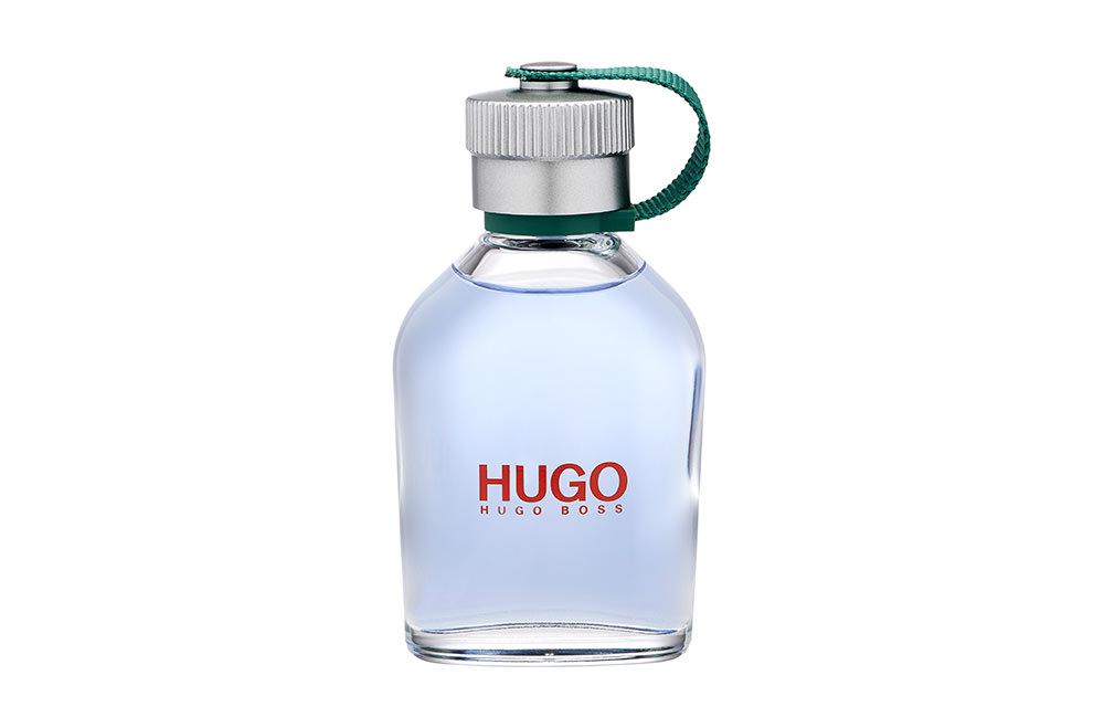 Packshot en studio du facon de parfum Hugo Man d'Hugo Boss.