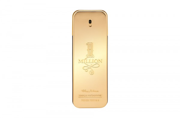 Photographie packshot en studio du flacon de parfum One million de Paco Rabanne.