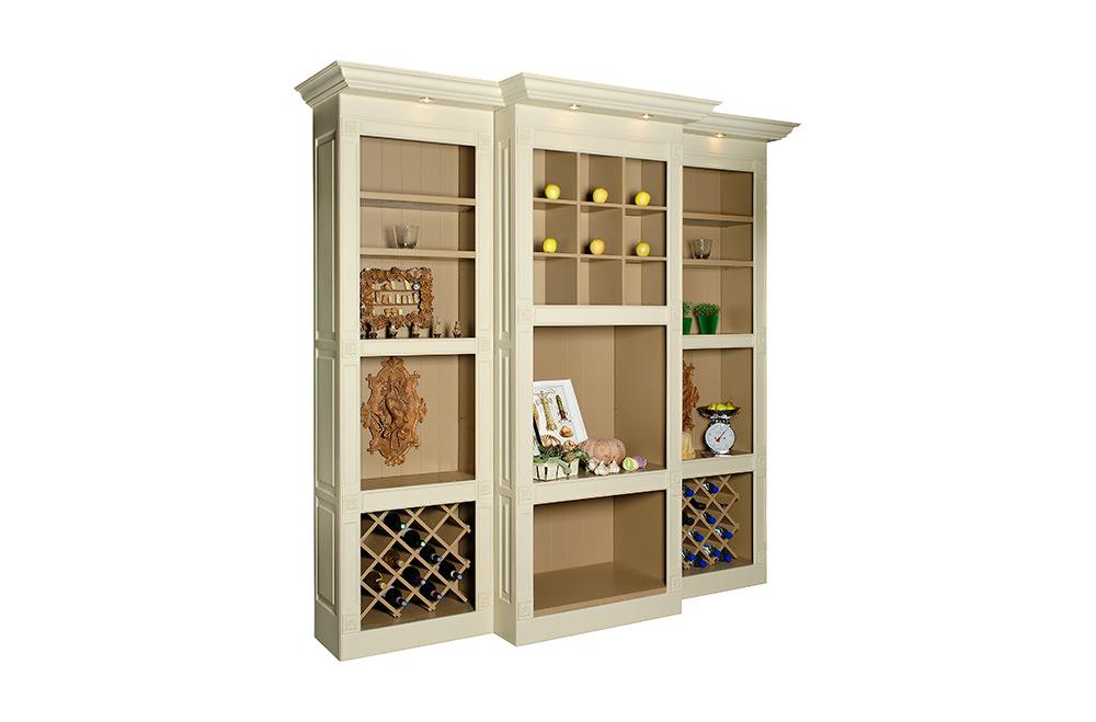 Photographie packshot d'une bibliothèque en bois du fabricant de mobilier Luc Perron.