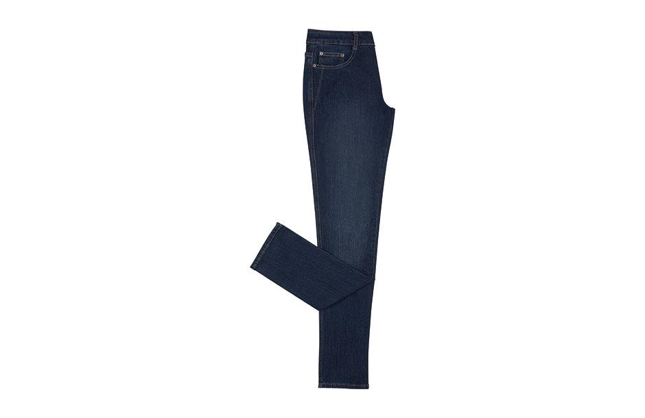 Photographie en studio d'un pantalon jeans.