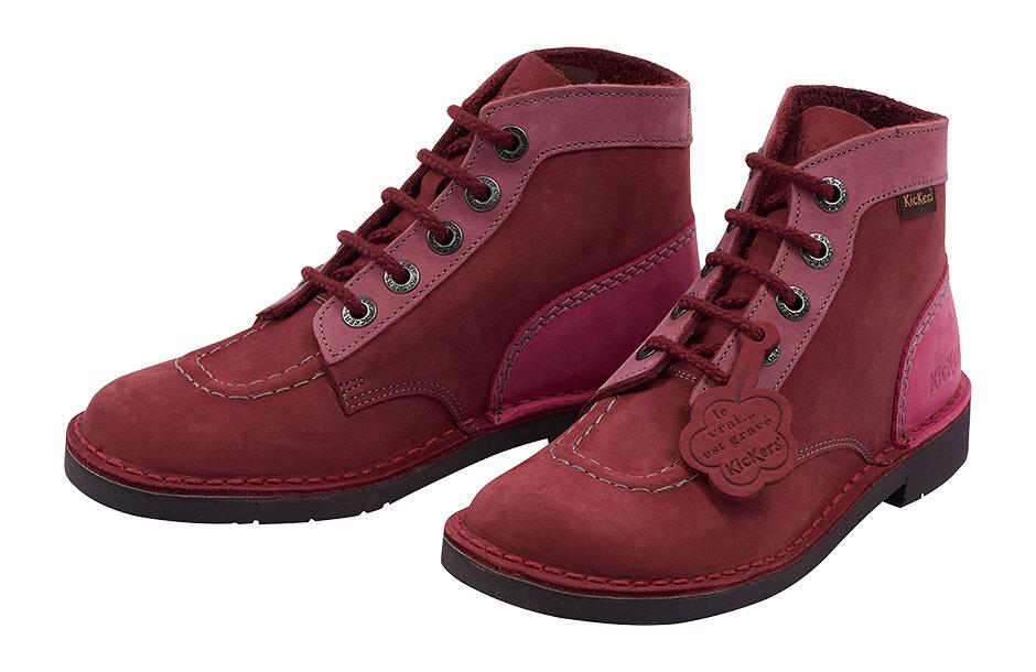 Photographie packshot de chaussures Kickers.