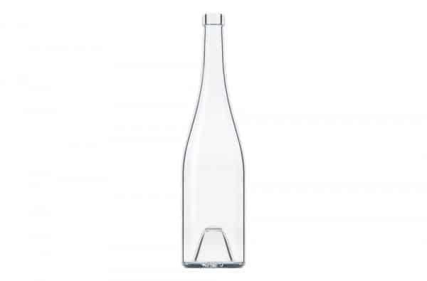 Photographie packshot en studio d'une bouteille en verre blanc Selective Line.
