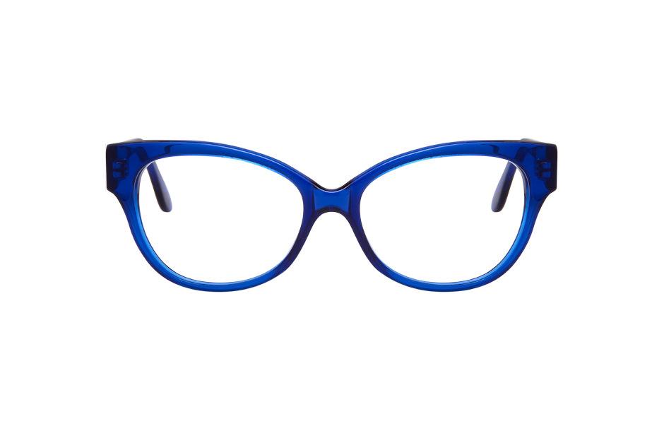 Lumiprod, vue de face d'une monture de lunettes Clush photographiée en studio.