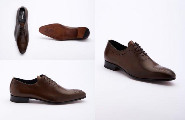 Photographie packshot en studio d'une paire de chaussures Father&Sons.