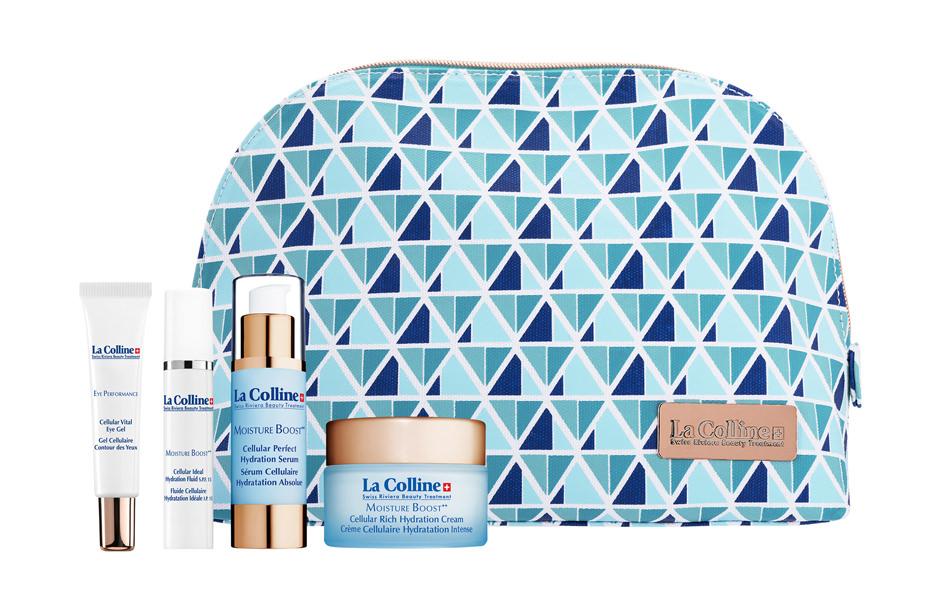 Photographie packshot publicitaire de produits cosmétiques de travel retail pour La Colline Skincare