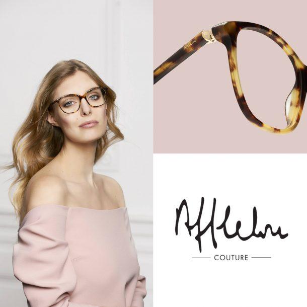 Photographie de détail sur la charnière des lunettes Afflelou Couture.