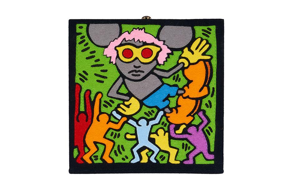 Photographie d'un sac d'Olympia Le Tan sur le thème de Keith Haring.