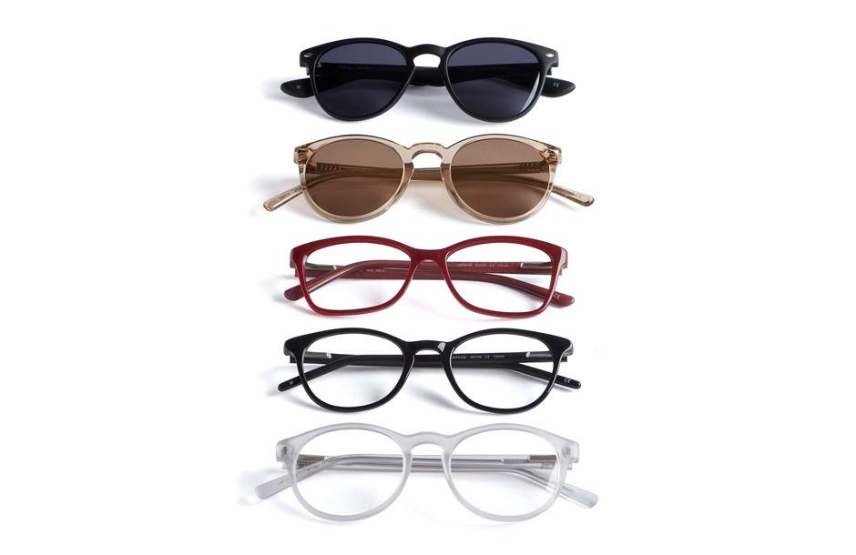 Prise de vue de composition de lunettes pour le catalogue Afflelou.