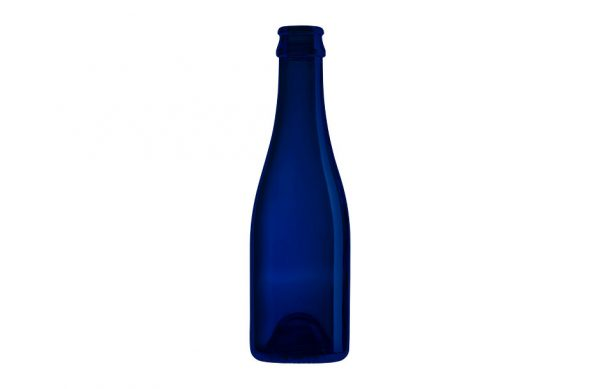 Photographie packshot d'une bouteille en verre