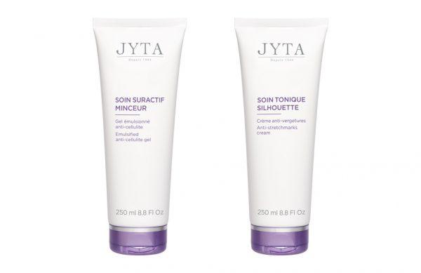 Photographie packshot de deux produits cosmétiques minceur.